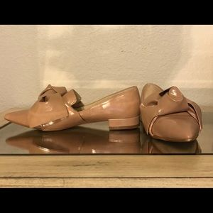Zara nude bow loafer flats